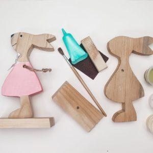 Box kreatywny - Model zajączek dziewczynka