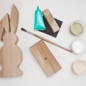 Box kreatywny - Model zajączek klapnięte uszko