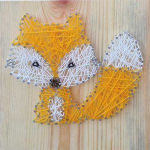 Box kreatywny - String Art Lisek