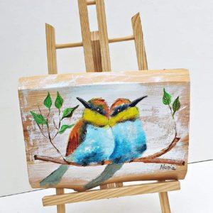 Obraz na desce Ptaki