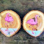 Podkładka pod kubek z flamingiem