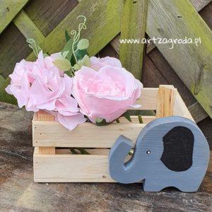 ArtZagroda - Skrzynki drewniane: Skrzynka z elementem dekoracyjnym