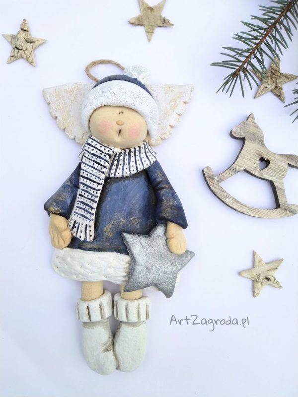 Świąteczny anioł do zawieszenia