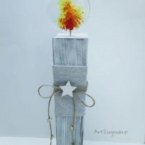 Świeczniki kwadratowe ze szklanym płomieniem