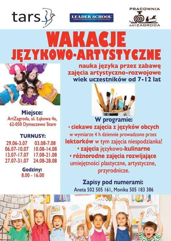 Wakacje językowo-artystyczne 2020 w ArtZagrodzie