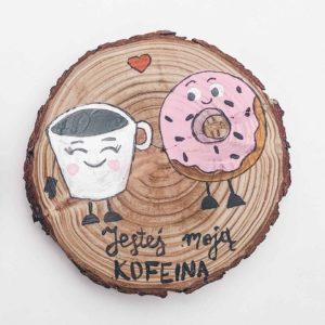 Walentynkowa podkładka pod kubek - Jesteś moją kofeiną