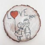 Walentynkowa podkładka pod kubek - Love you