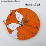Zegar lis okrągły