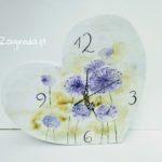 Zegar serce kwiaty czosnku