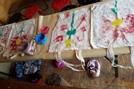 Malowanie na ekotkaninach oraz na bawełnie - ArtZagroda